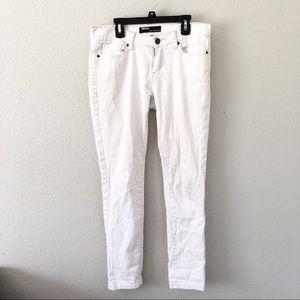UO BDG White ankle cigarette skinny jeans